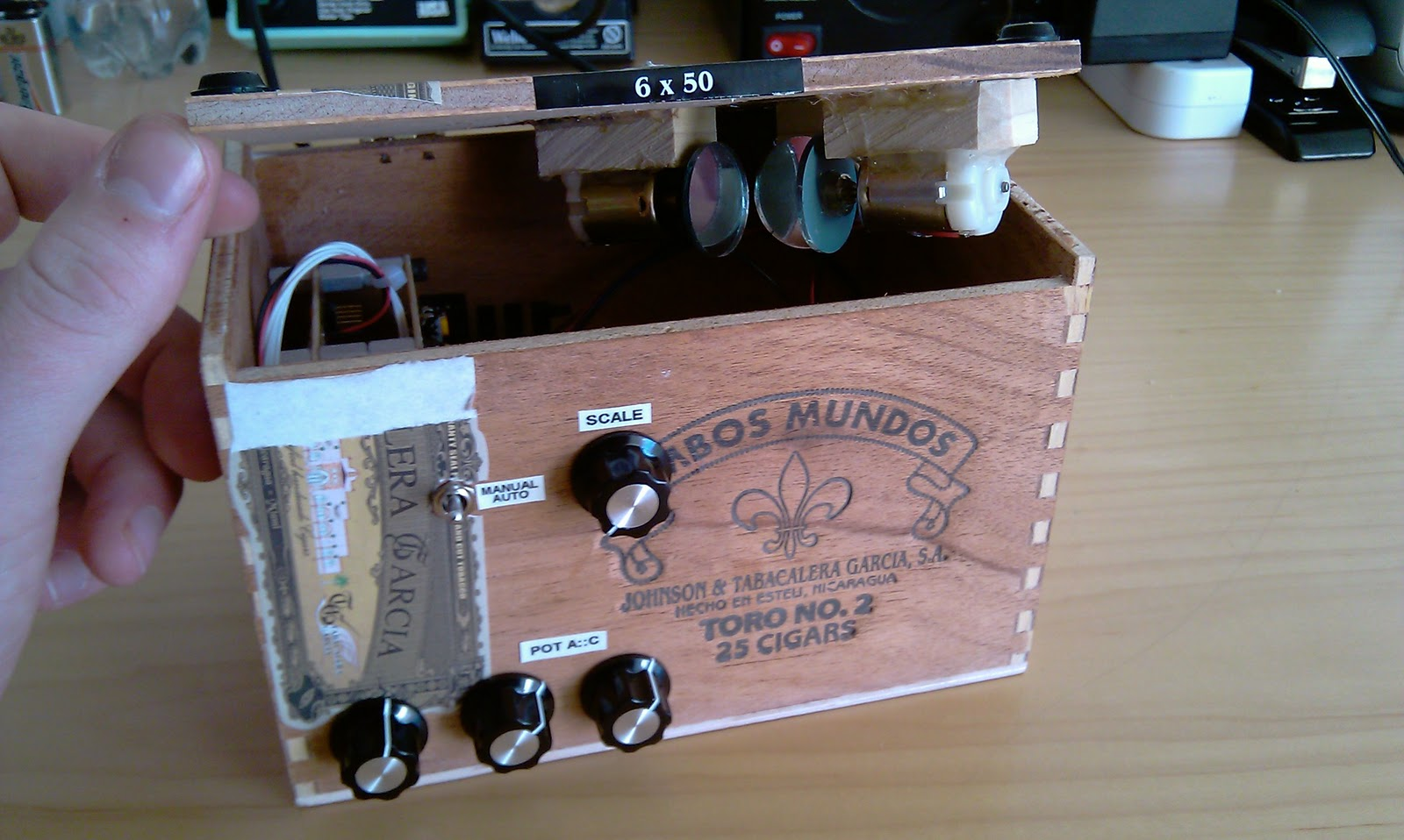 Cigar Box Laser Light Show