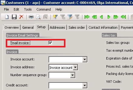 AX WONDERS Email Invoices based on customer setup options - email invoices