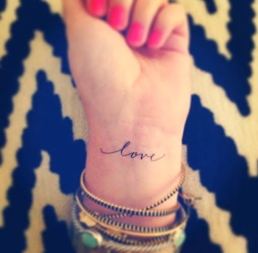 love wrist tattoo ideas for women
