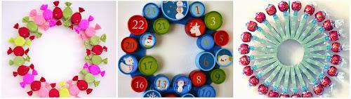 Doma vyrobený adventní kalendář