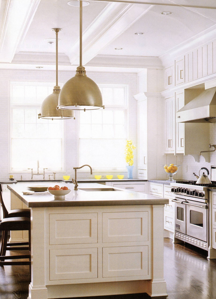 Kitchen Island Lights Fixtures The Kitchen Island. | Frog Hill Designs Blog