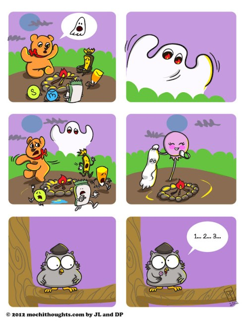 Cute Food Comic Scary Halloween