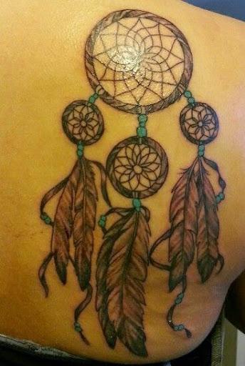 Dreamcatcher Tattoos on side upper back