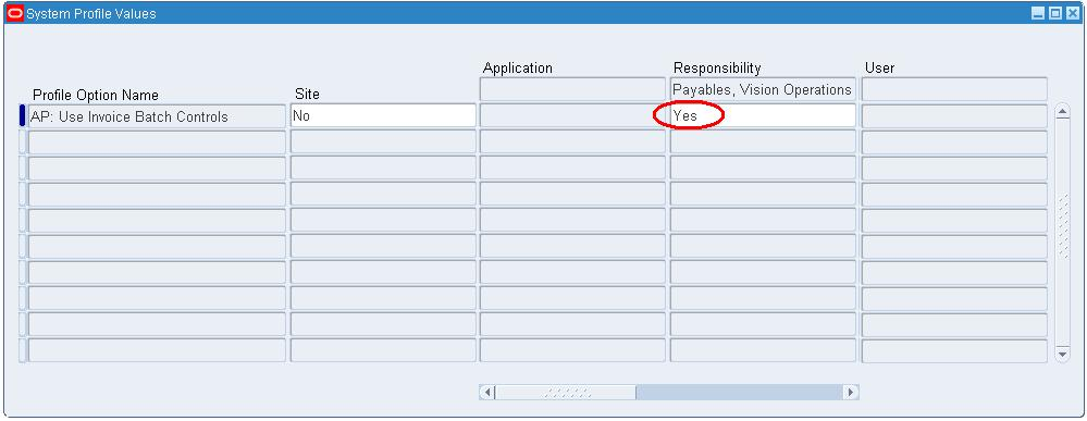 Oracle Apps Quick Reference Setup an Invoice Batch