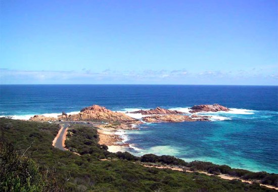 Looking down on Canal Rocks - Cape to Cape Track