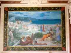Puvis de Chavannes mural at the Musée des Beaux Arts