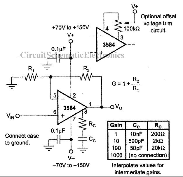 high temperature protector with ic 3584