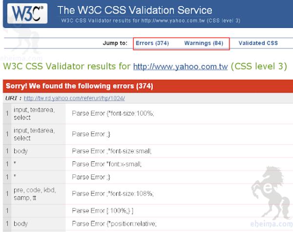 W3C網站檢測教學