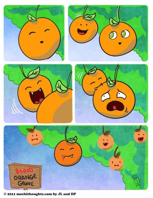 Cute Food Comics Blood Orange Vampires