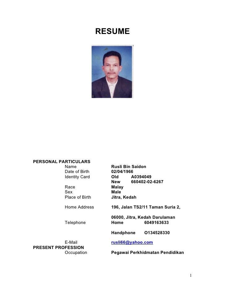 contoh format curriculum vitae bahasa indonesia professional