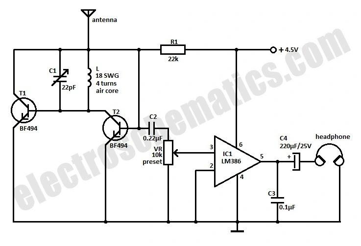 choccy block trf radio schematic diagram