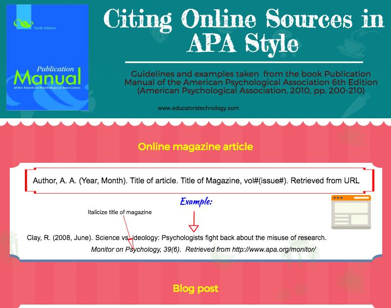 apa manual 6th edition online free