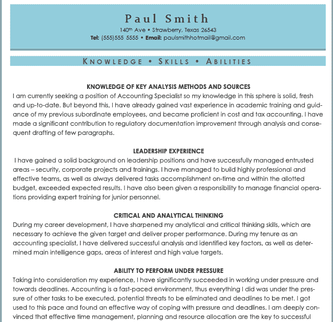 a p resume example