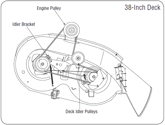 mtd 46 deck belt diagram moreover mtd lawn tractor wiring diagram
