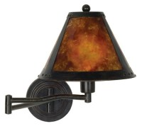 Bronze and Mica Plug-In Swing Arm Wall Lamp | Cheap Lamps ...