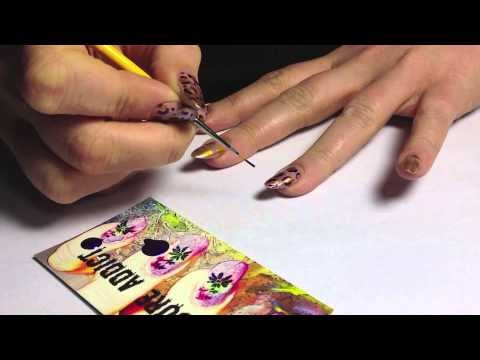Cozy Manicure Addict Animal Print Nail Art Tutorial Video Leopard