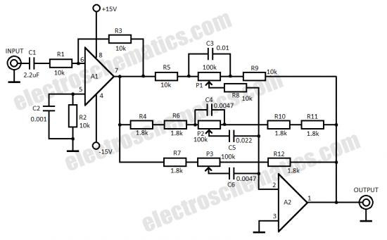 bass filter circuit