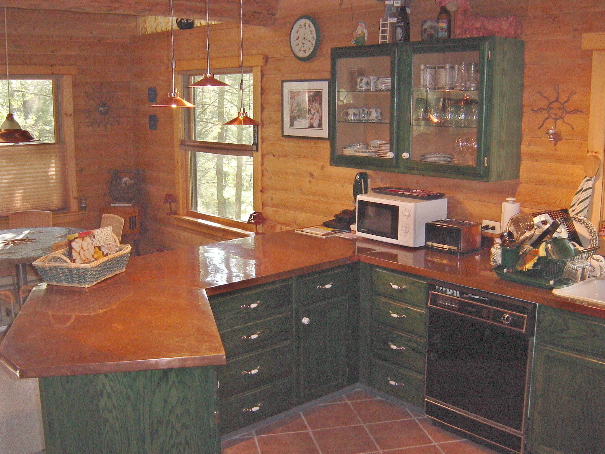Heirloom Wood Countertops Counter Top For Log Cabin Kitchen Best Home Decoration