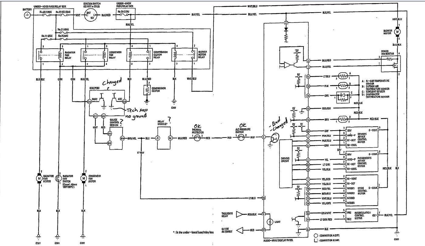 92 civic radio wiring diagram