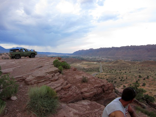 View of Blazer and Over Moab Valley