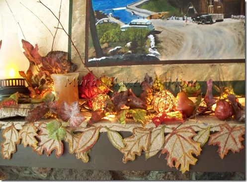 Fall Leaf Burlap Mantel Scarf Just Paint It Blog