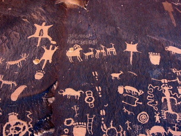 Newspaper Rock Petroglyphs Detail-2.JPG