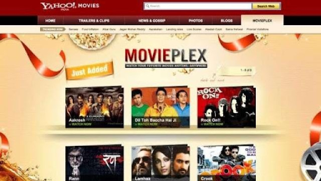 Watch Bollywood movies free with Movieplex by Yahoo