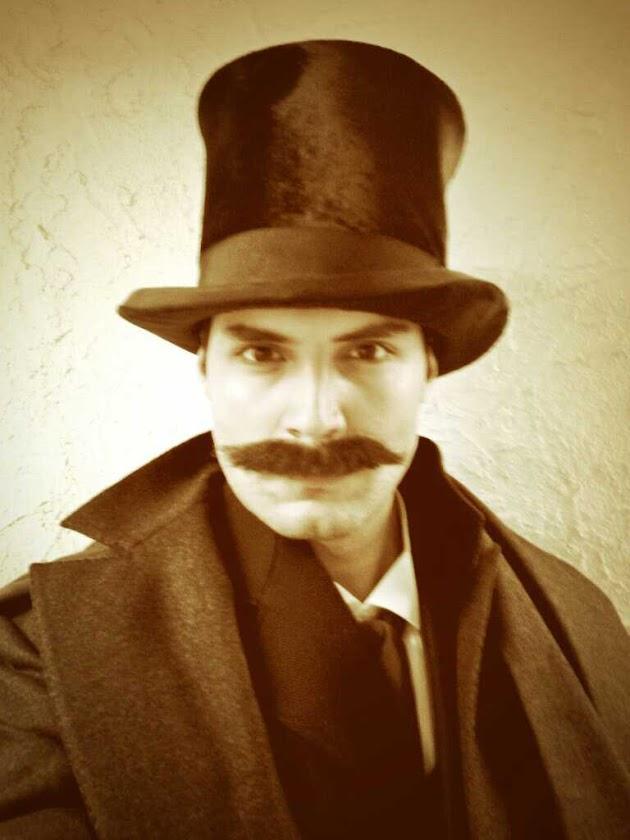 Samy Osman in costume. 1800s in Canada.