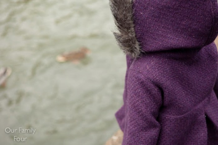 Furry Plum Coat at Our Family Four 3