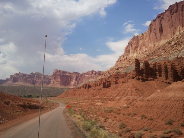 Southern Utah Winding Road Taken While Driving