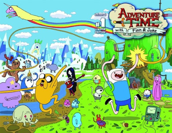 Adventure Time Comic Book Cover