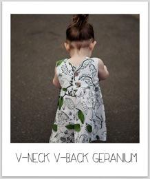 V Neck Geranium 2
