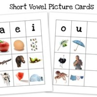 Short and Long Vowel Picture Cards ~ Free Preschool Printables