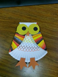 Misadventures of a YA Librarian: Paper plate owl