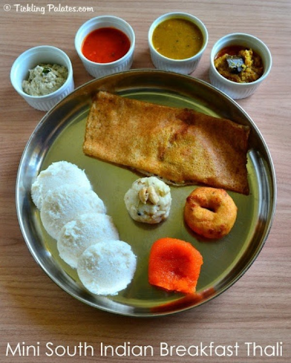South Indian Breakfast Thali
