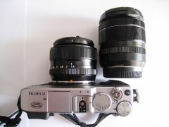 Fujifilm X-E1 with XF 35mm and XF 18-55mm