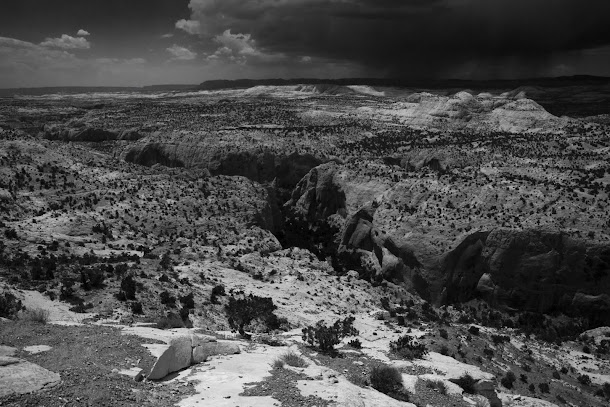 Southern Utah Canyon in Black & White