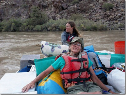 Gaelyn & Shelly on the stout boat Colorado River trip Grand Canyon National Park Arizona