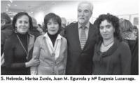 Sagrario Nebreda, Mariza Zurdo, Juan Manuel Egurrola, Mª Eugenia Luzarraga