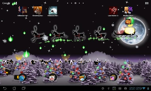3d Hologram Wallpaper App Christmas Live Wallpaper Android Apps On Google Play