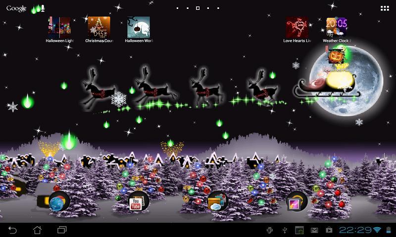 3d Hologram Wallpaper App Weihnachten Live Wallpaper Android Apps Auf Google Play
