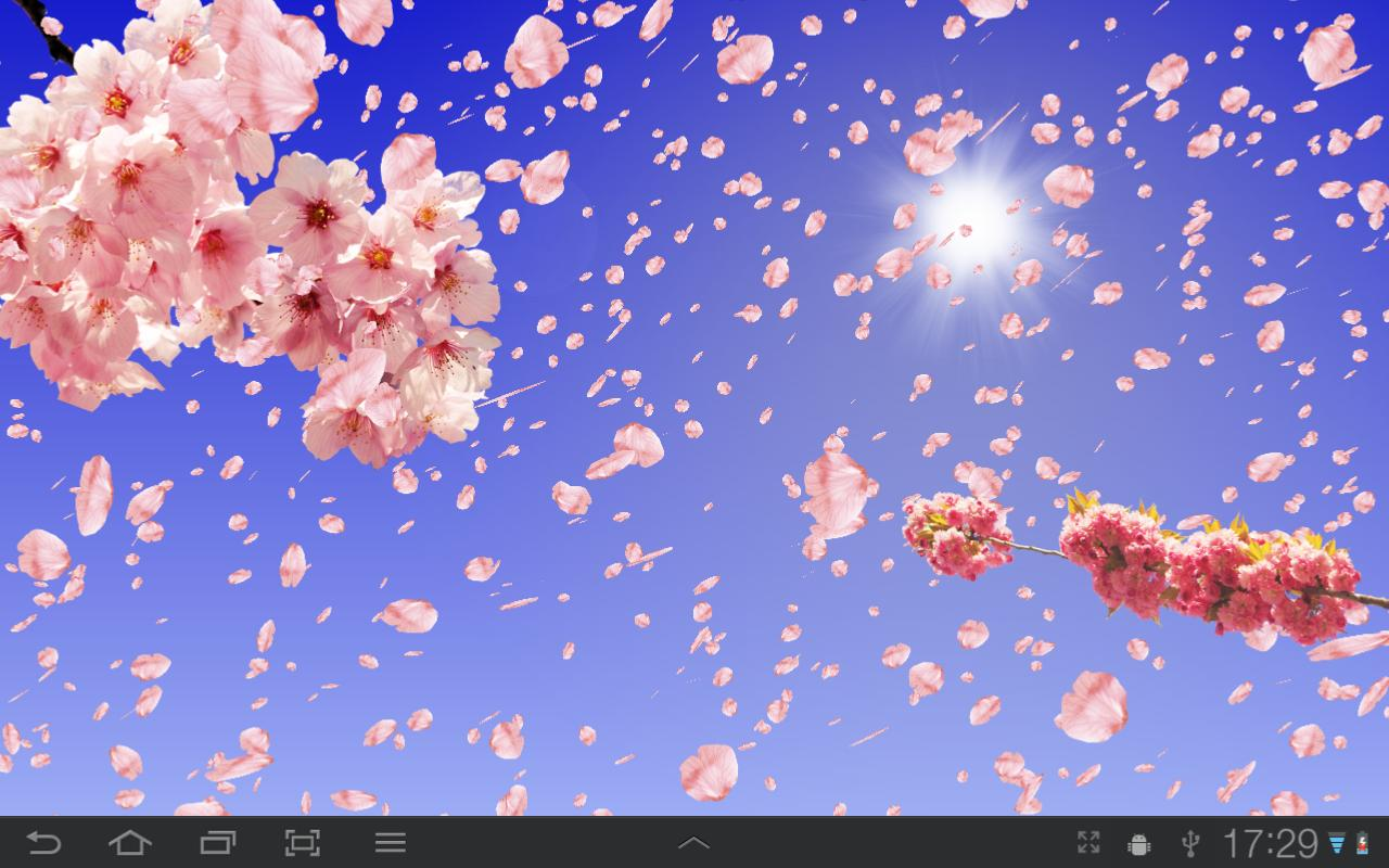 Falling Leaves Live Wallpaper Apps Android Sakura Free Live Wallpaper Aplicaciones De Android En