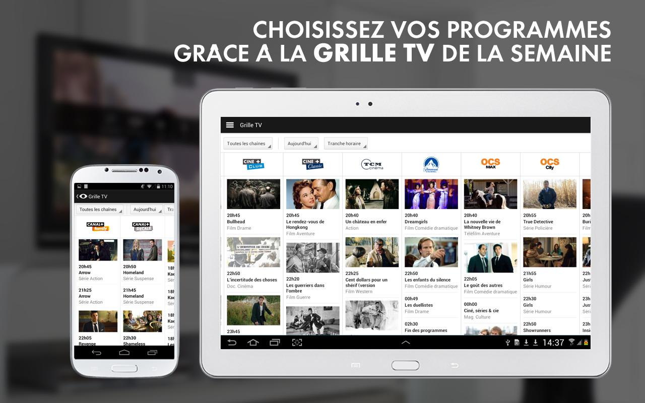 La Grille Canal Mycanal Par Canal 43 And Canalsat Applications Android Sur