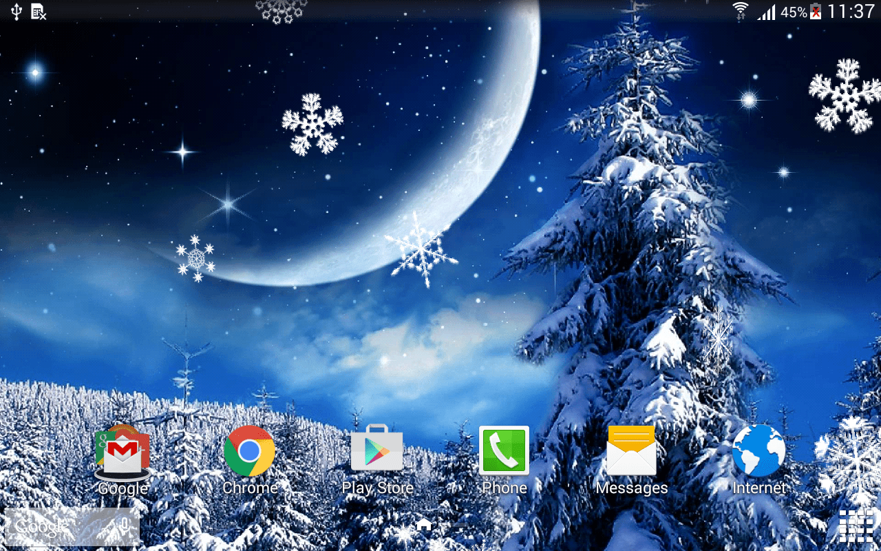 3d Snowy Cottage Animated Wallpaper Windows 7 Winter Night Wallpaper Android Apps On Google Play