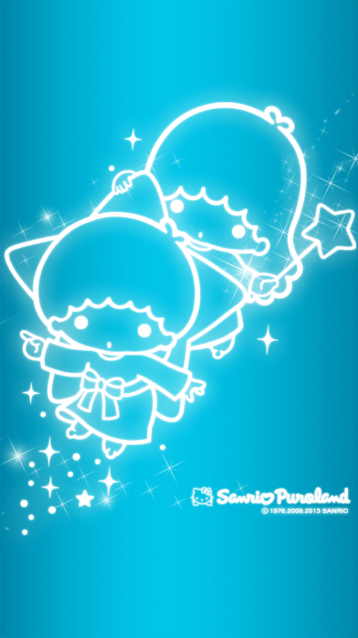 Stars Wallpaper Iphone 青 【キキララ】リトルツインスターズ スマホ壁紙【サンリオ】待ち受け Littletwinstars