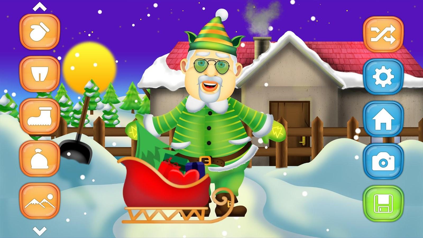 Santa dress up christmas games screenshot