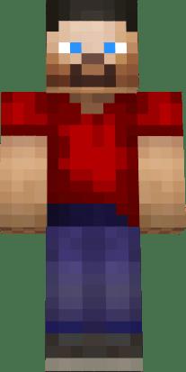 Cute Boy Wallpaper Hd Download Steve Hd Red Shirt Nova Skin