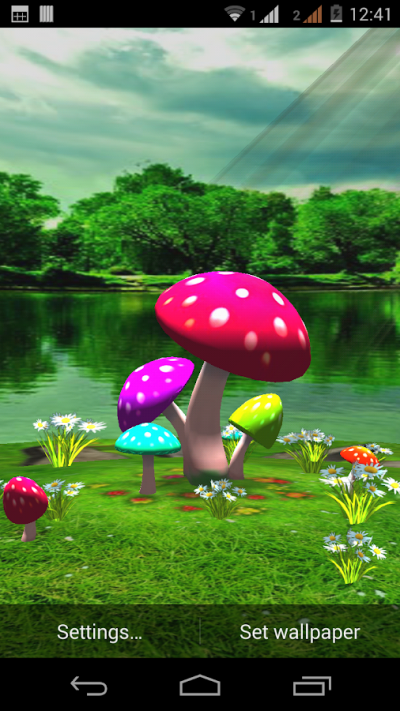 3D Mushroom Live Wallpaper New - Android Apps on Google Play