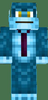Minecraft Wallpaper 3d Herobrine Bluemonkey Nova Skin