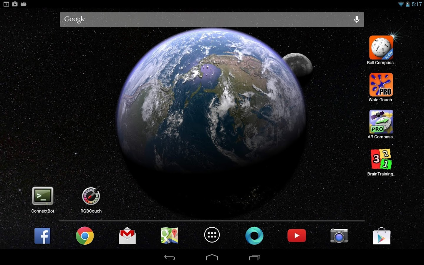 3d Parallax Weather Live Wallpaper Earth Amp Moon In Hd Gyro 3d Android Apps On Google Play